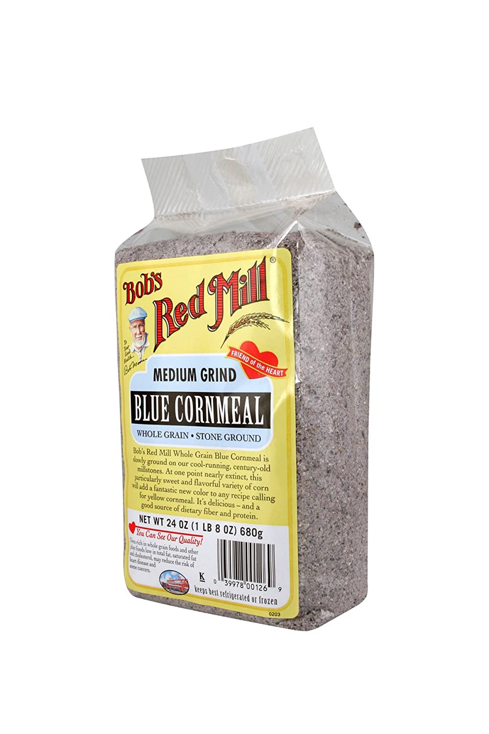 Amazon.com : Bobs Red Mill Blue Cornmeal, 24-ounce : Grocery & Gourmet Food