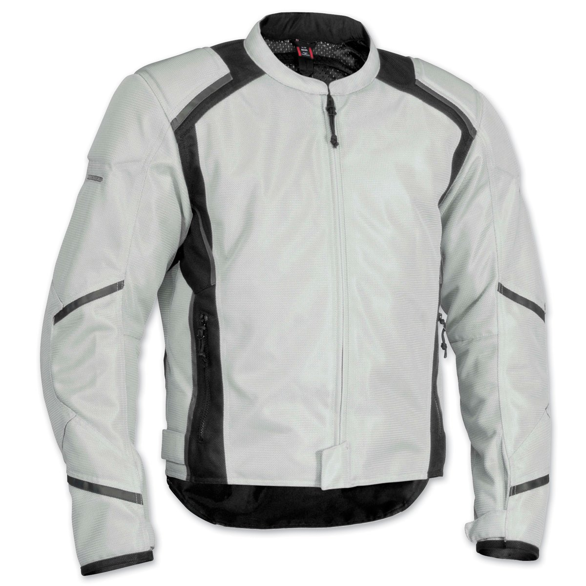 FirstGear Mesh Tex Men's Mesh Sports Bike Motorcycle Jacket - Silver/Black - Tall X-Large