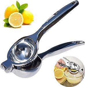 Bluemary Stainless Steel Lemon Squeezer, Handheld Lime Juicer, Hand Manual Citrus Press for Lemons, Limes, Oranges, Dishwasher Safe