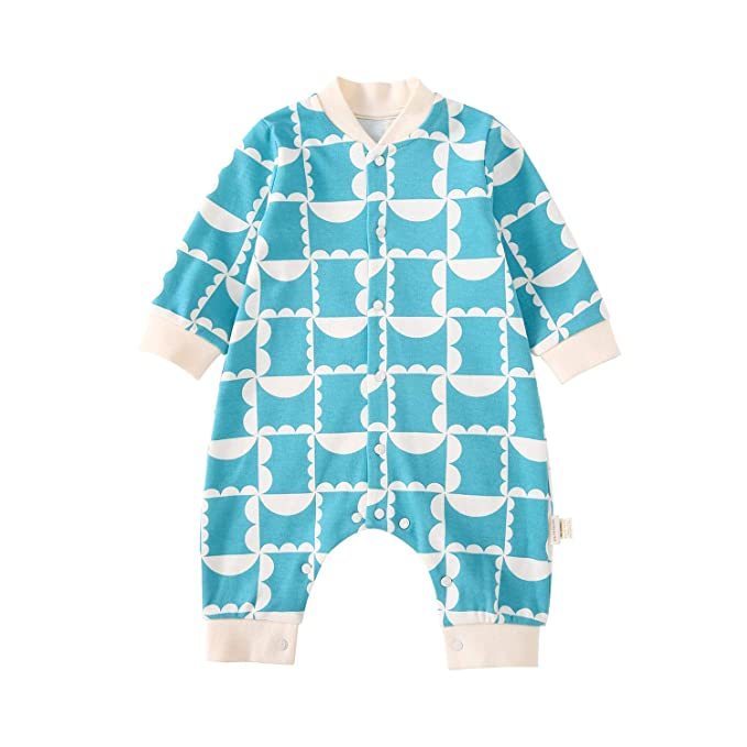 ed2a406129 pureborn Cotton Baby Boy Girl Coveralls Sleep N Play Footless Long Sleeve  Plaid Pajamas Jumpsuit One