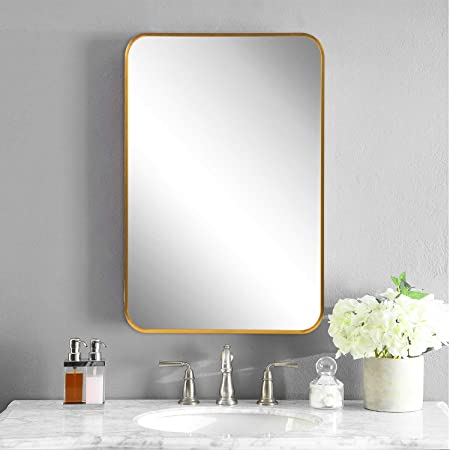 Decorative Mirrors Wall Mounted Bathroom Mirror Hexagon Make Up Mirror Bedroom Living Room Dining Room Entry Amazon Co Uk Kitchen Home