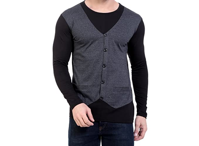 054bd952d94 Try This Cotton Casual Waist Coat Full Sleeve T-Shirt for Men s and ...