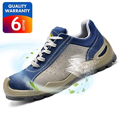 SAFETOE Safety Shoes Work Boots Wide L7295 Leather  Steel Toe Work Shoes  for Men and Women 77984661f