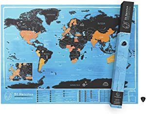 Ed Sheeran Official World Scratch Map – World Scratch Off Map – Unique & Colorful Scratch Poster – Inspired by Ed Sheeran's Music – Great Gift Idea Featuring Fun Facts and Trivia