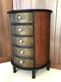 Chinesische 5 Schublade Dunkles Holz Stauraum Schrank Orientalische Möbel  Redwood