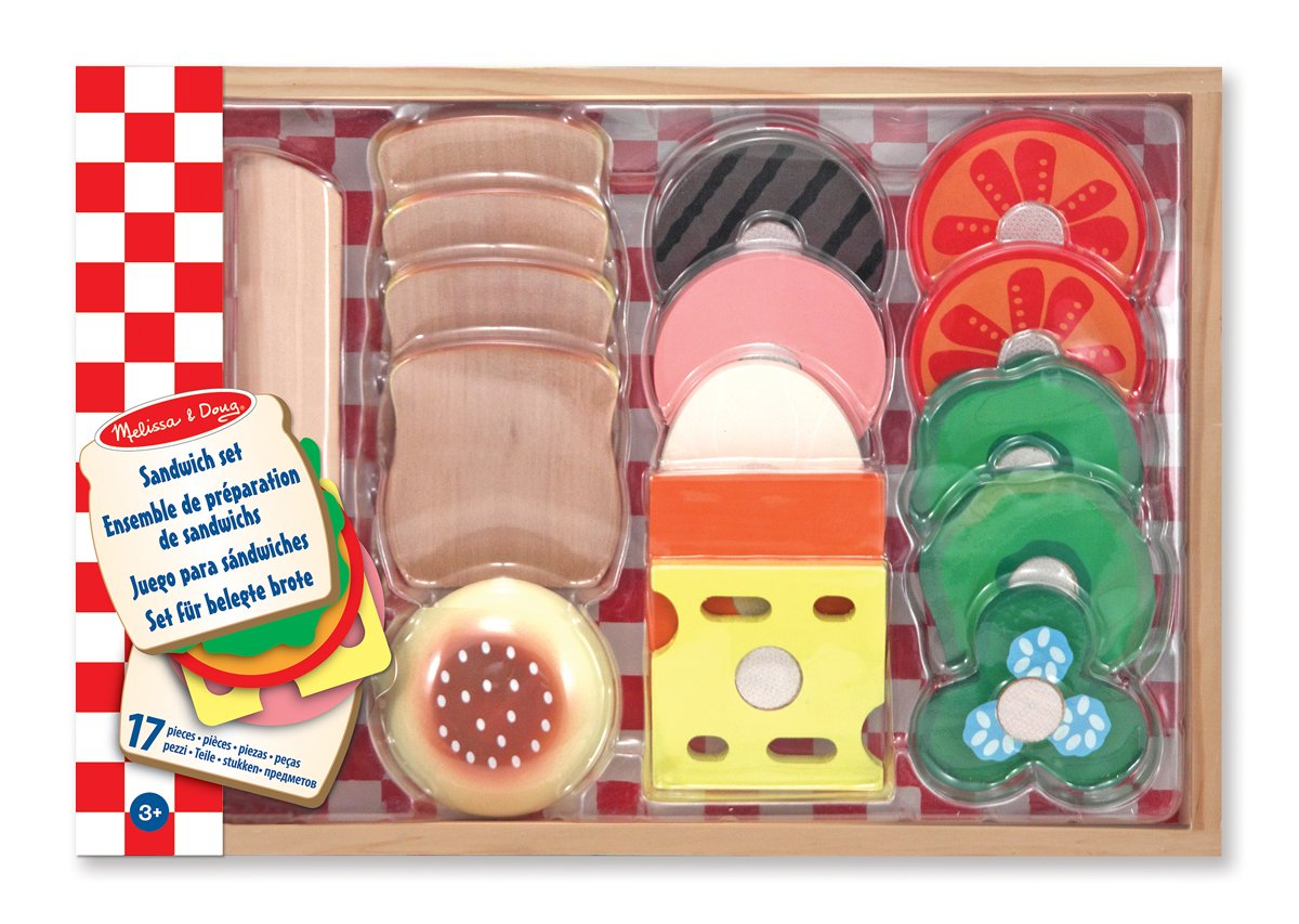 Melissa & Doug Wooden Sandwich-Making Pretend Play Food Set Melissa and Doug 10513
