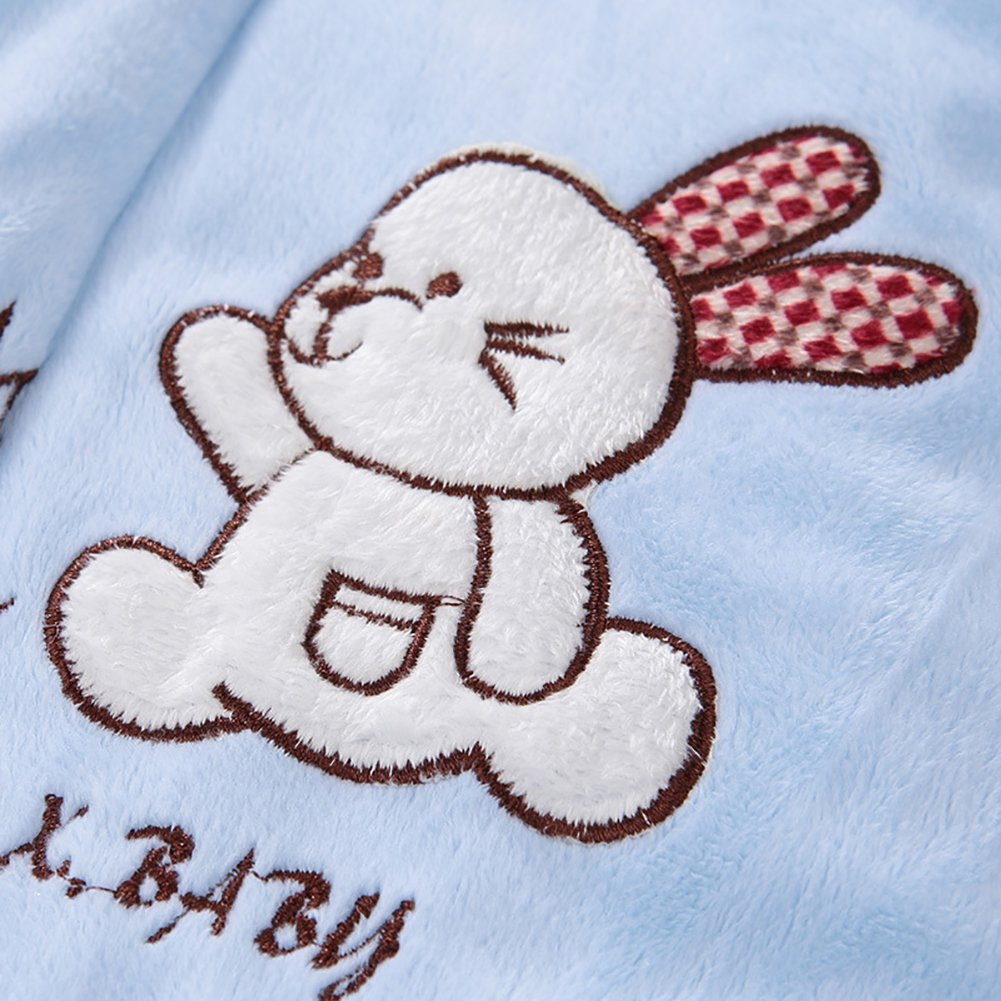 Liveinu Baby Boy Girls Bathrobe Winter Toddler Flannel Robe o-3 Years