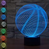 Amazon Price History for:Basketball 3D Illusion Lamp Night Light, Gawell 7 Colors Changing Touch Switch Table Desk Decoration Lamps Perfect Christmas Creative Gift Toys