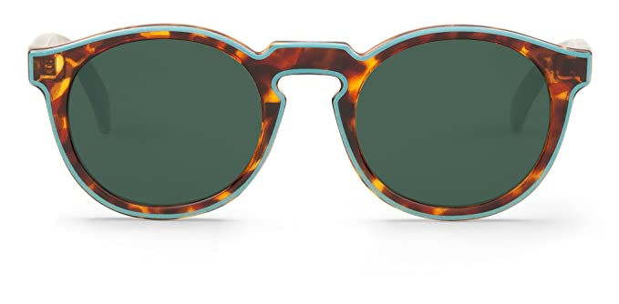 Mr Boho Contour Blue/Cheetah Tortoise JORDAAN with Classical Lenses, Gafas de Sol Unisex, 47