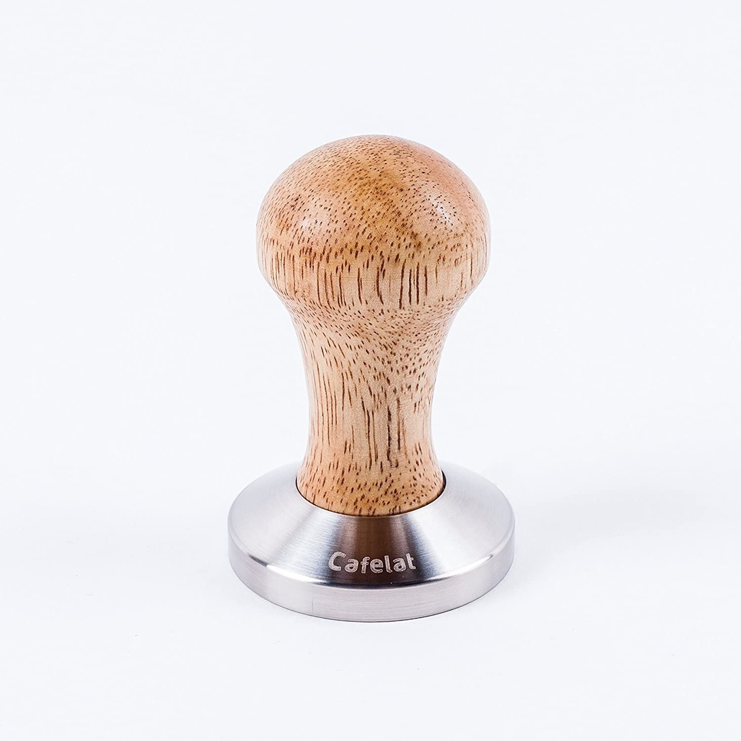 Cafelat Stainless Steel and Wood Espresso Tamper (58mm Flat)