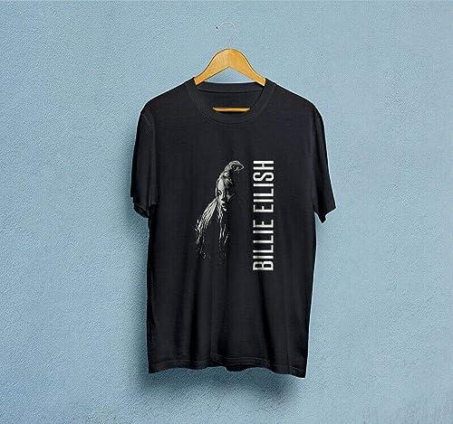 Hot Kid/'s Female Singer T-shirt Billie Eilish Short Sleeve Tee Girl Tops Costume