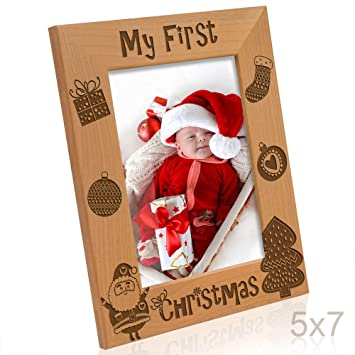 Amazon.com - Kate Posh - My First Christmas Picture Frame (5x7 ...