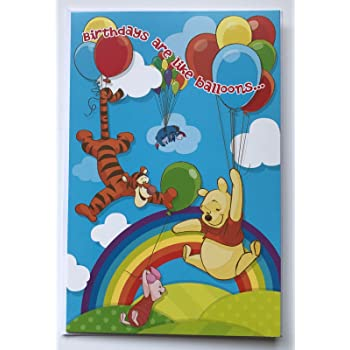 Amazon Hallmark Winnie The Pooh Birthday Card All Shapes And