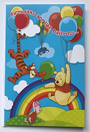 Bouncy Birthday Tigger Winnie The Pooh Birthday Card Amazon