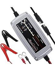 InThoor Caricabatteria e Mantenitore di Carica Auto Moto12V 5 A, 7 Stadi Intelligente Mantenitore Batteria Adatto per AGM, Gel, Wet, MF, EFB(5-120Ah)