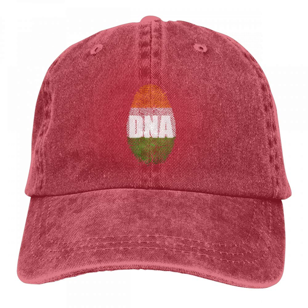 Irish Its in My DNA Irish Flag Mens Womens Adjustable Denim Fabric Baseball Cap Sun Hat