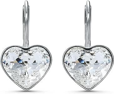 Swarovski Pendientes Bella Heart, blanco