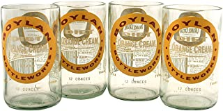 product image for Tumblers Drinking Glasses Made From Recycled Soda Bottles 8 Oz - set of 4 (Diet Orange Cream)
