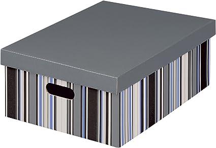 Nips Office - Caja multiuso, tamaño maxi, 35 x 44 x 18.5 cm, multicolor: Amazon.es: Oficina y papelería