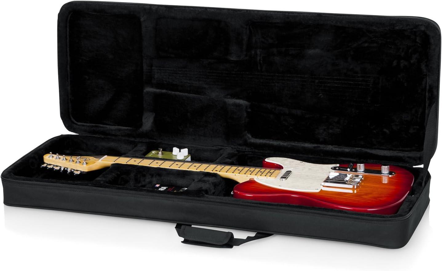 form Foam Interior Hard Foam Contoured Electric Guitar Case w// Nylon Exterior