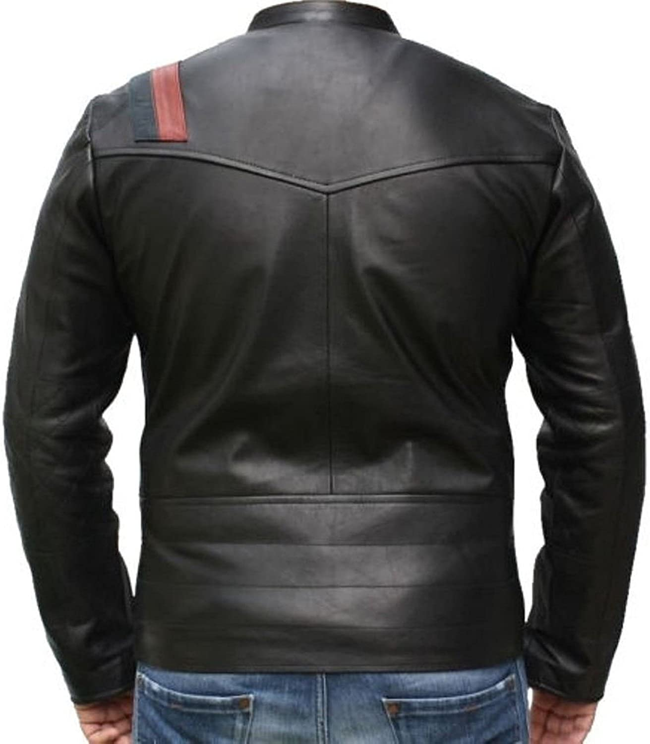 New Men Quilted Leather Jacket Soft Lambskin Biker Bomber T809