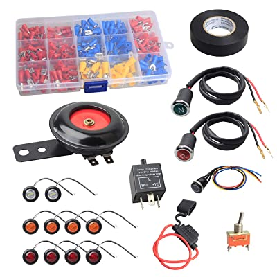 NTHREEAUTO Street Legal Kit Universal DIY Turn Signal Kits with Toggle Switch Compatible with ATV, UTV, SXS, Golf Cart, Dune Buggy or 4x4 Project: Automotive