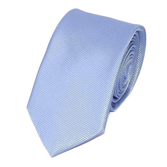 c2374d88e7a2e TIECLUB Cravate Homme en Soie - Coupe Moderne - Choisissez Votre Couleur ( Uni Bleu Ciel