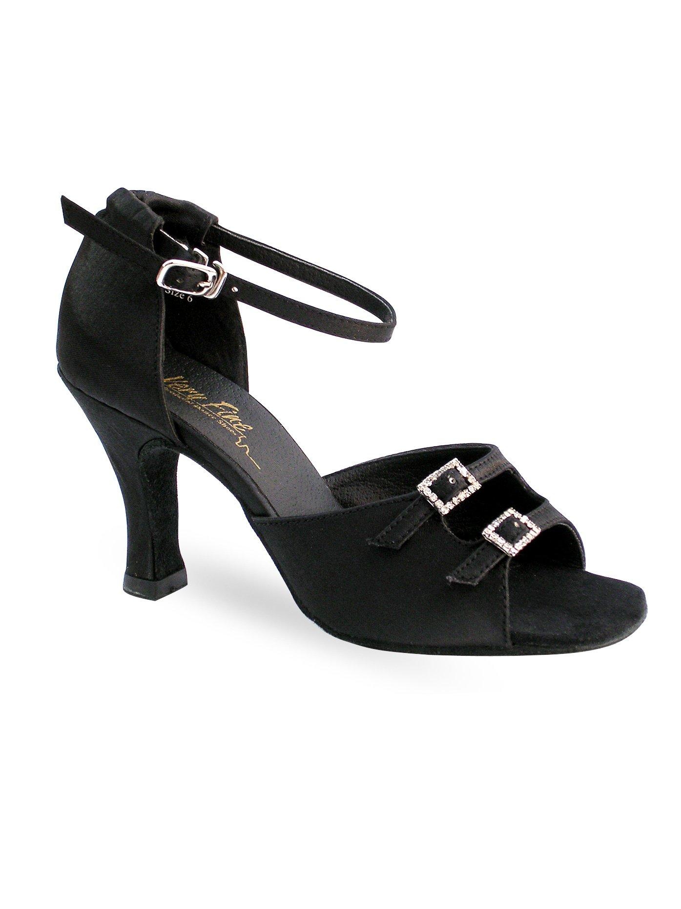 Ladies Latin/Rhythm- Classic Series Ballroom Shoes,1620BR25070,Brown Satin,7.0