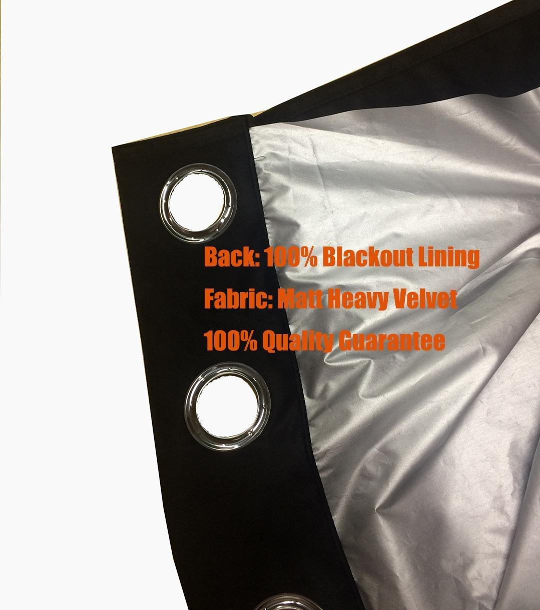 Sideli massiv Tülle matt schwere schwere schwere Samt Vorhang Tuch Panel schwarzout Super Weich in theater  bedroom  Living room  Hotel 1 Stück, grau, 46 x90 (117x228cm) B071HXSZKW Vorhnge 229981