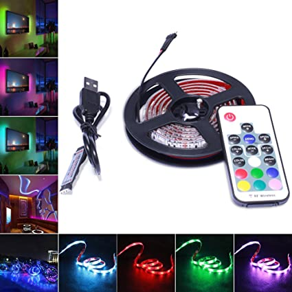 Avaway rgb led strip lights 5v usb powered smd 5050 led light avaway rgb led strip lights 5v usb powered smd 5050 led light strips with 17 aloadofball Image collections