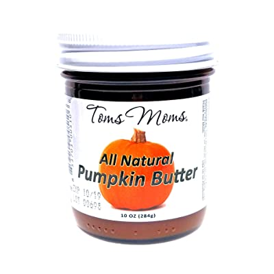 All Natural Pumpkin Butter | 10 Ounce Glass Jar | Made in Virginia, USA | by Toms Moms | No Artificial Colors, Corn Syrup, or Preservatives : Grocery & Gourmet Food