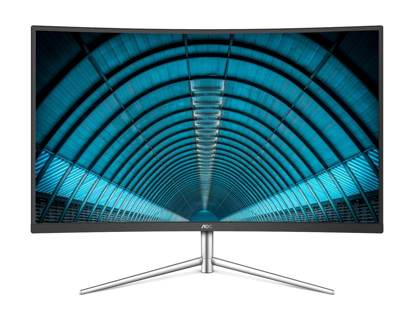 AOC C32V1Q 31.5'' Full HD 1920x1080 Monitor, Curved VA Panel, 4ms 75hz, Frameless, HDMI/DisplayPort/VGA, FlickerFree, Low Blue Mode, VESA