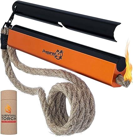 "Quality 1//2/"" Ferro Rod Fire Steel fire Starter Kit With Tool Sharpener Striker"
