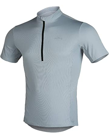 7dcbb5225 4ucycling Short Sleeve Quick Dry Bike Jersey - US Size Breathable Basic  Shirts for Sports