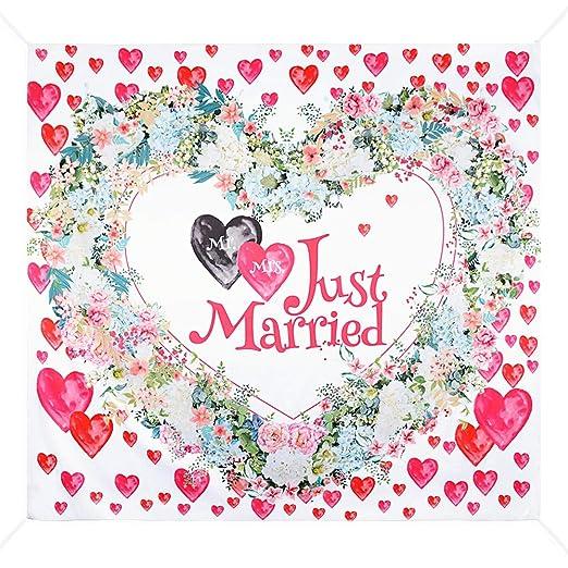 Fondo Photocall Bodas 2 x 1,8m Tapiz Pared Grande Just Married ...