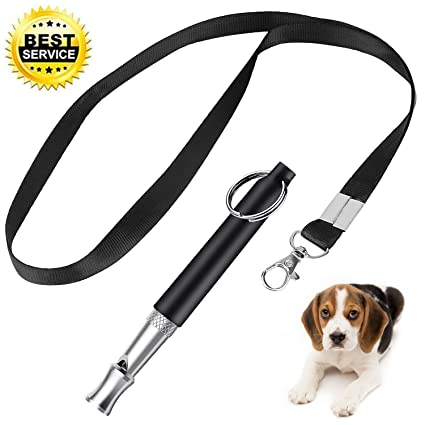 XQFI Dog Whistle to Stop Barking, Adjustable Pitch Ultrasonic Training Tool  Silent Bark Control for Dogs- with Free Premium Quality Lanyard