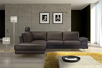 Sam sofá de diseño Mezzo en marrón sofá 220 x 270 cm fácil ...