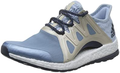 72e068349210c adidas Pureboost Xpose Climacool Boost Running-Shoes Blue Womens ...