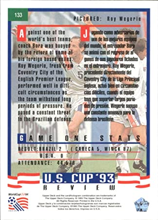 1993 Upper Deck World Cup 94 Preview English/Spanish #133 Roy Wegerle at Amazons Sports Collectibles Store