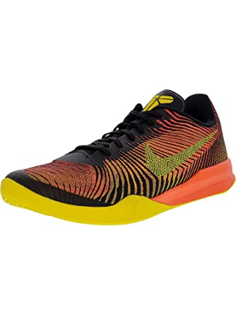 the latest e33a0 d67c9 Nike Men s Kb Mentality Ii Black Tour Yellow-Total Crimson Ankle-High  Basketball
