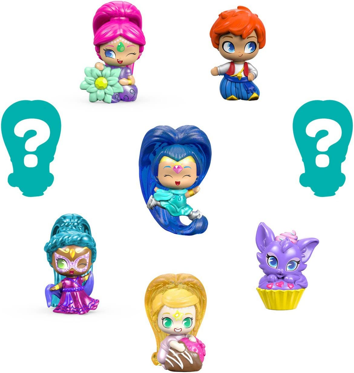 8 Pack Fisher-Price Nickelodeon Shimmer /& Shine #3 Series 2 Genie Teenie Genies