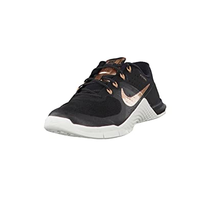 nike di donne metcon 2 scarpe nero / bianco / bronzo (12 b (m