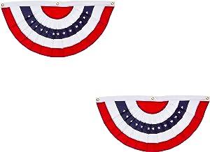 Evergreen Flag Patriotic Applique Bunting (5 x 2.5, Set of 2)