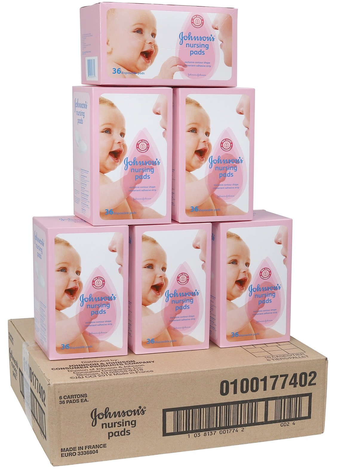 Johnson's Disposable Baby Nursing Pads, Case of 216 Pads