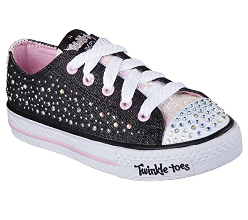 e29bf4252039 Skechers Girls  Twinkle Toes Shuffles Sparkle Wishes Sneaker