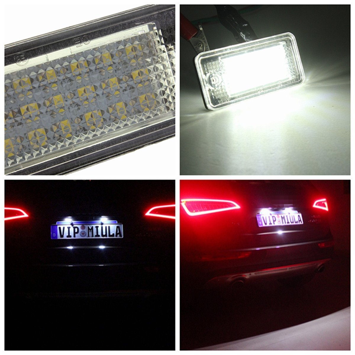 inlink da 2/ Pack 24/ LED SMD 3528/ Error Free Direct Replacement License Plate Light