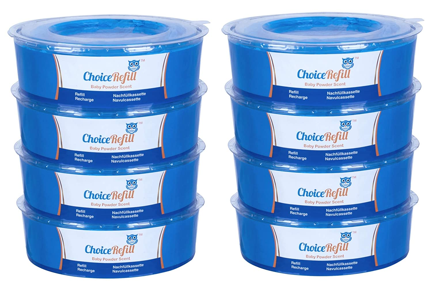 ChoiceRefill for Sangenic Tommee Tippee & Sangenic Tec Nappy Pails System (8-Pack) Haoyunbao