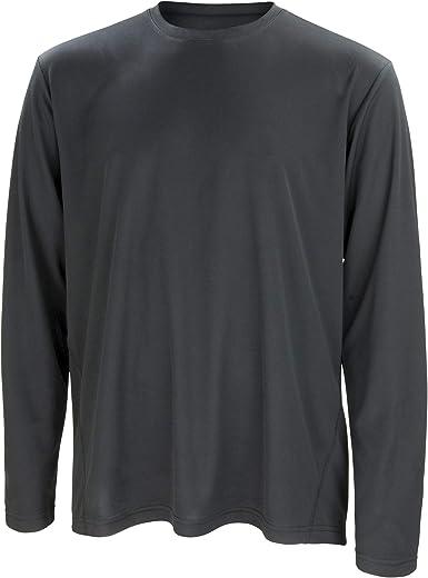 Spiro Mens Sports Quick-Dry Long Sleeve Performance T-Shirt