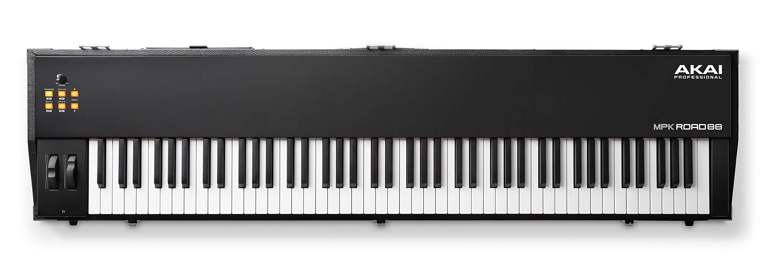 Akai Professional Road 88   Hammer-Action 88-Note USB Keyboard Controller with On-Board 4-Output Soundcard, MIDI Interface, Performance Driven Controls and Integrated Road-Ready Travel Case