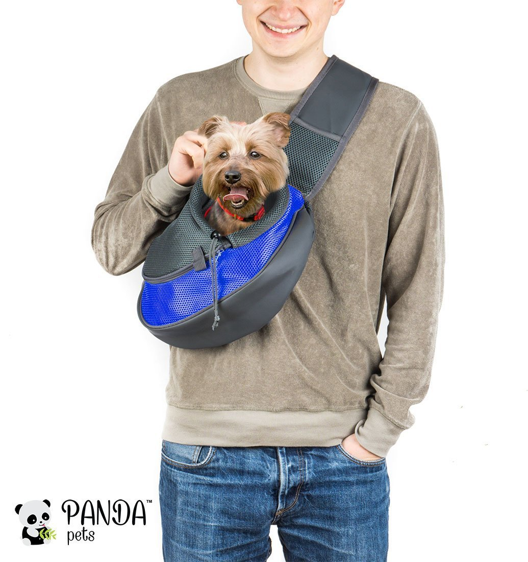 Cuddlissimo! Pet Sling Carrier for Cats Dogs (Blue)